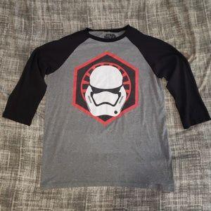 Star Wars Stormtrooper Baseball half sleve tee